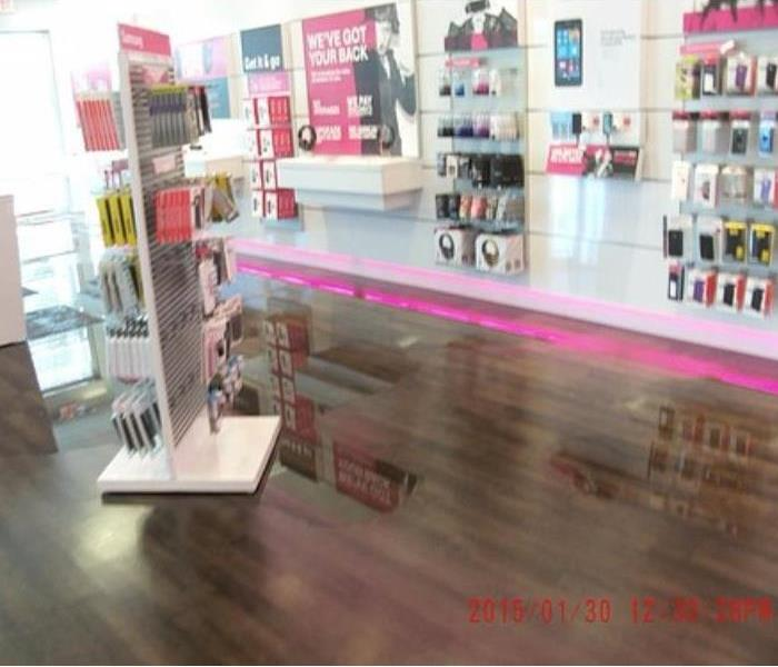 Mobile Phone Store Storm Damage Before