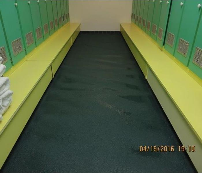 Gym Water Damage Restoration Before